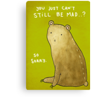 You Can't Still Be Mad? Canvas Print
