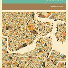 BOSTON MAP by JazzberryBlue