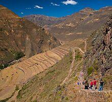 Pisac archaeological, Cuzco, Peru by juan jose Gabaldon