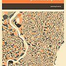 PHILADELPHIA MAP by JazzberryBlue