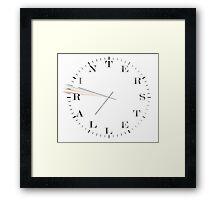 Interstellar Afraid of Time (black) Framed Print