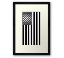 Greyscale American Flag  Framed Print