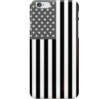 Greyscale American Flag  iPhone Case/Skin