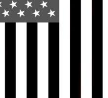 Greyscale American Flag  Sticker