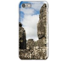 Buddha Carvings in Bayon Temple iPhone Case/Skin