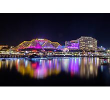 DARLING HARBOUR VIVID Photographic Print