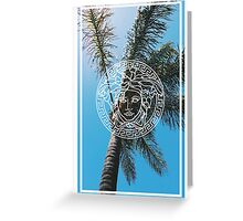 VERSACE TREES Greeting Card