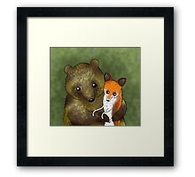 Timothy & Foxy Framed Print