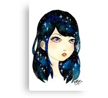 Starry-eyed in space  Canvas Print