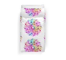 Rainbow Watercolor Paisley Flower Duvet Cover