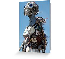 WEEE MAN Recycled Waste Electrical and Electronic Equipment Robot Greeting Card