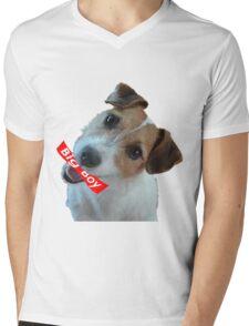 Big Boy Dog Mens V-Neck T-Shirt