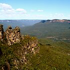 Three Sisters, Blue Mountains, New South Wales, Australia by John Linton