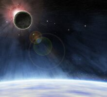 Outer Atmosphere of Planet Earth by Phil Perkins