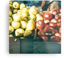 Green Market ©2002 W. Cook Metal Print