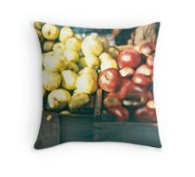 Green Market ©2002 W. Cook Throw Pillow