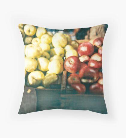 Green Market ©2002 W. Cook Throw Pillow