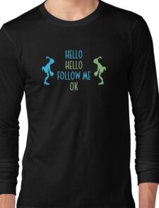 Oddworld Abe's Oddysee Hello (Blue & Green) Long Sleeve T-Shirt