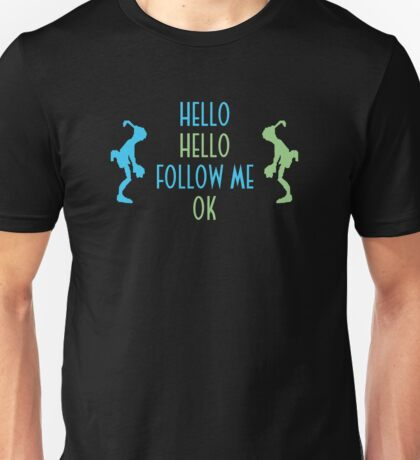 Oddworld Abe's Oddysee Hello (Blue & Green) Unisex T-Shirt