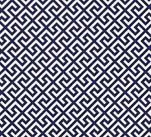 Straight Single Line Royal Blue by chocolart