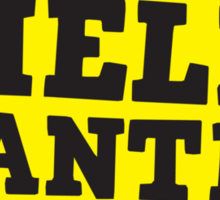 HELP WANTED SIGN (rough) Sticker