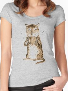 Accordion Tiger Women's Fitted Scoop T-Shirt