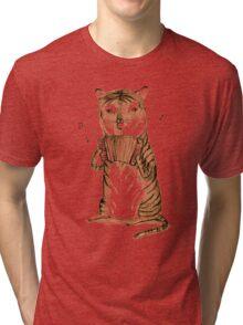 Accordion Tiger Tri-blend T-Shirt