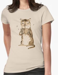 Accordion Tiger Womens Fitted T-Shirt