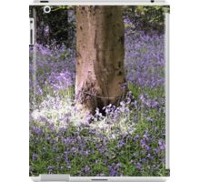 Carpet of Vibrant Purple Bluebells in a Sun Lit Wooded Forest iPad Case/Skin