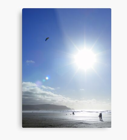 Cornwall: Let's go fly a kite Metal Print