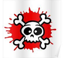 funny cartoon pirat skull Poster