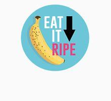 """Eat It Ripe"" Banana Design Womens Fitted T-Shirt"
