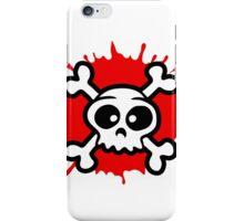 funny cartoon pirat skull iPhone Case/Skin