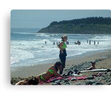 We Love The Beach Canvas Print