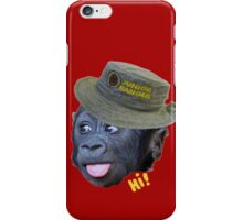 Hi! says the ranger monkey iPhone Case/Skin