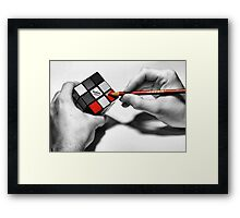 Rubik's Cube (Starting Over) Framed Print