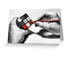 Rubik's Cube (Starting Over) Greeting Card