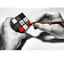 Rubik's Cube (Starting Over) Photographic Print