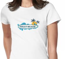 Folly Beach - South Carolina. Womens Fitted T-Shirt