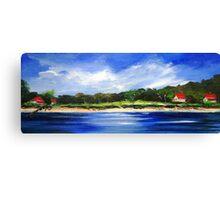 Sea Hill Houses Canvas Print