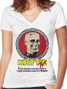 Krytie TV Women's Fitted V-Neck T-Shirt