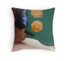 Jellyfish in your Face Throw Pillow