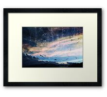 blue skys summer flys  Framed Print