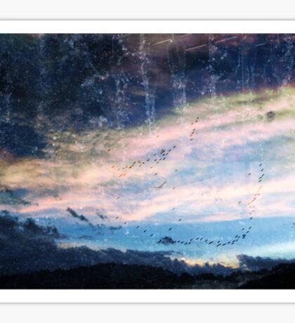 blue skys summer flys  Sticker