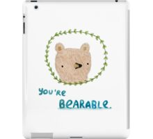 Bearable Bear iPad Case/Skin