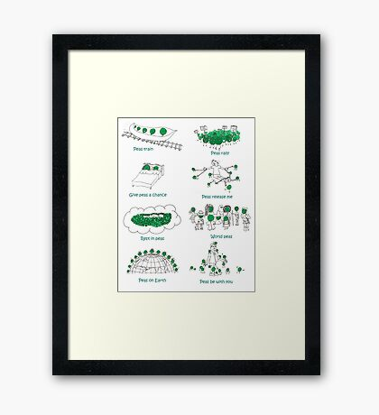 Peas (Peace! Please!) Framed Print