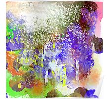Decorative Abstract with White Glare Poster