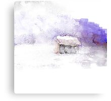 Blowing Snow Canvas Print