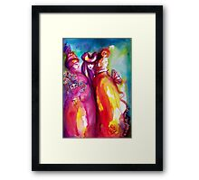 THE THIRD MASK / Venetian Carnival Masquerade Framed Print