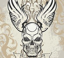 Winged Skull by viSion Design